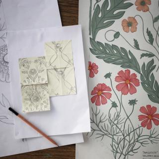 HannaWendelbo_WallpaperDesigns_Blomstermåla